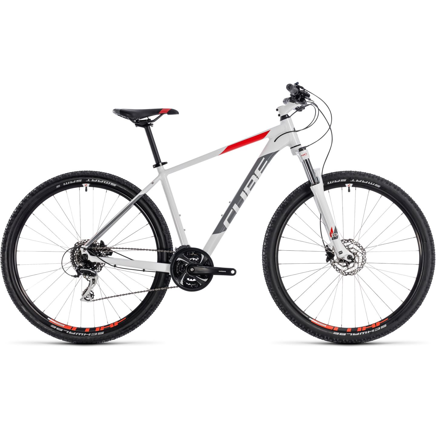 mountainbike 29 inch bicicleta cube aim race white red 2018 29