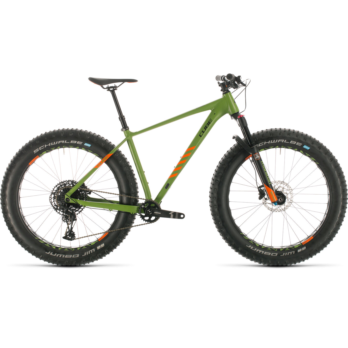 BICICLETA CUBE NUTRAIL Green Orange 2020